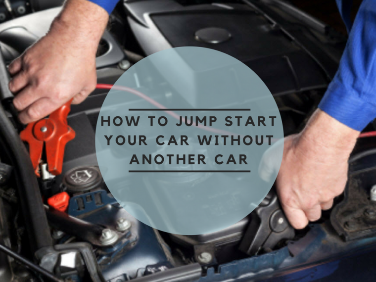 how to jumpstart a car battery without another car