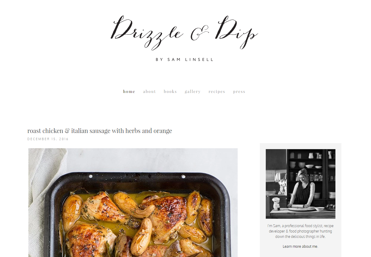 Best photography websites in 2017 to follow the elite product sam linsell who established drizzle and dip is a professional food stylist recipe developer and food photographer hunting down the delicious things in forumfinder Choice Image