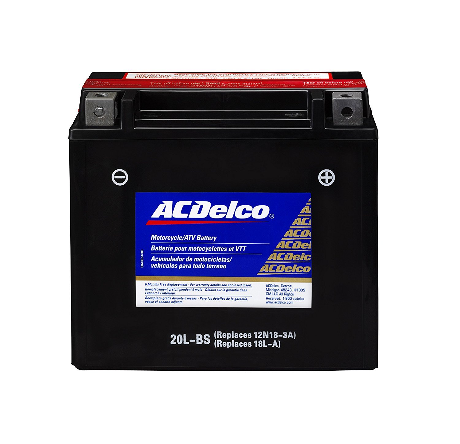 AC Delco Motorcycle Battery