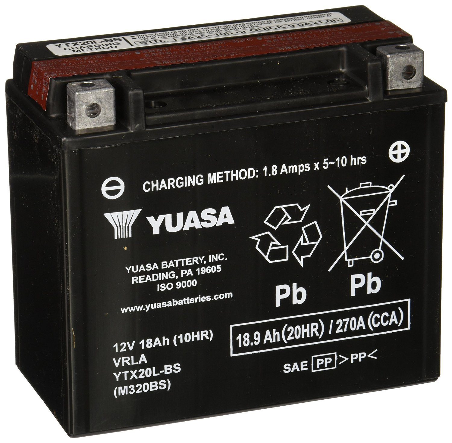 Yuasa YUAM320BS Bike Battery