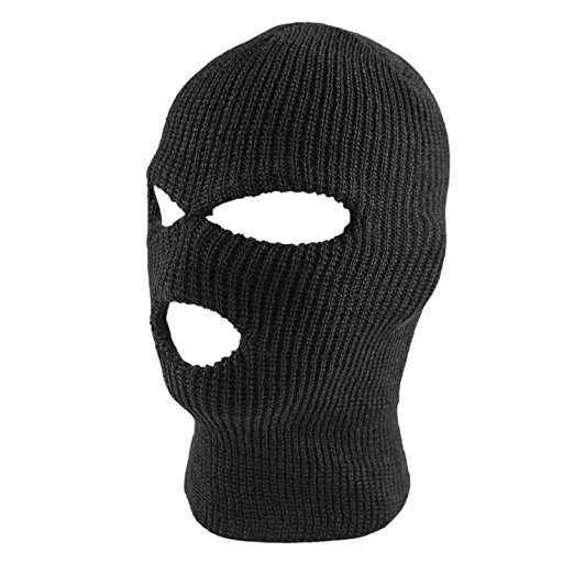 Knit Black Face Cover