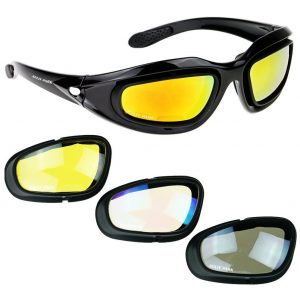 Motorcycle Riding Glasses Black Frame