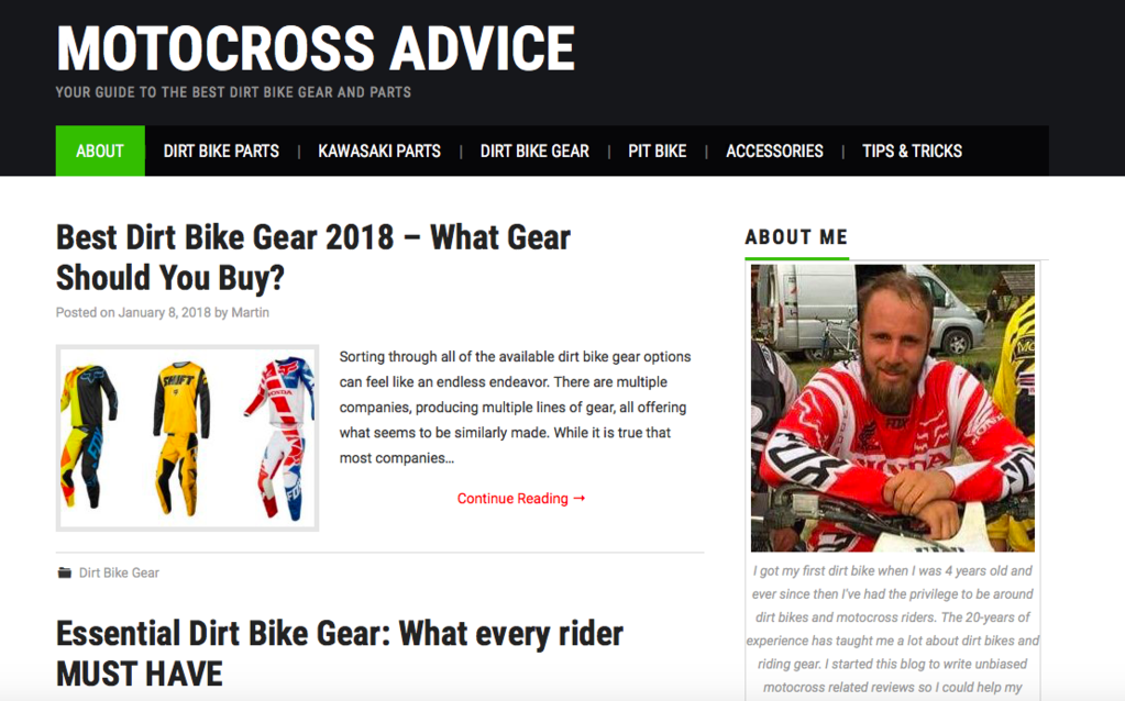 Motocross advice