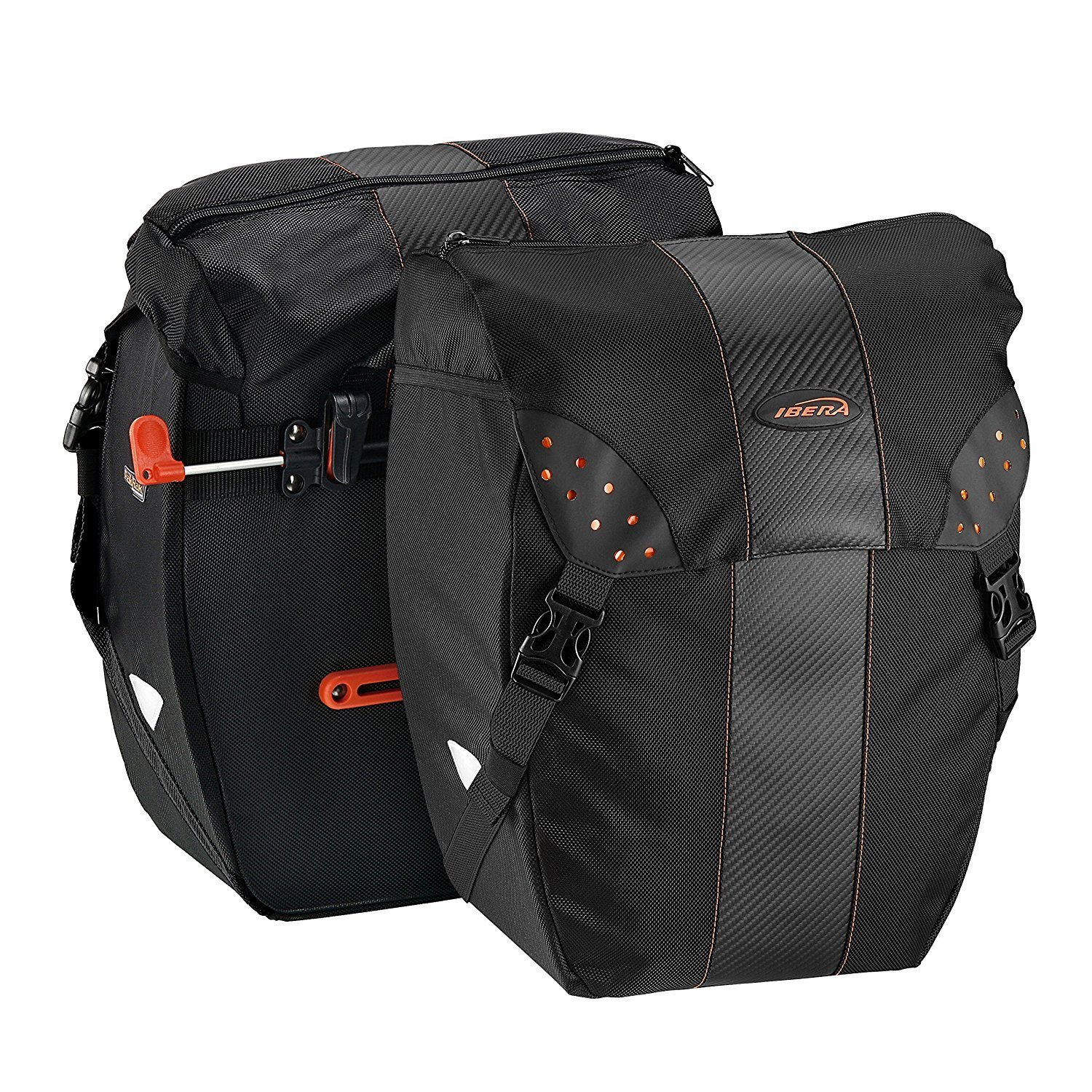 Ibera PakRak Clip-On Bike Panniers