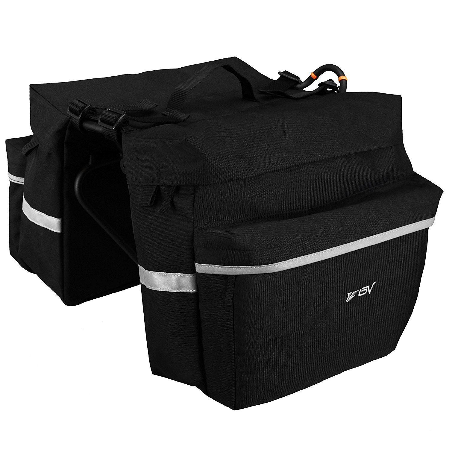 5. BV Bicycle Panniers with Bungee hooks
