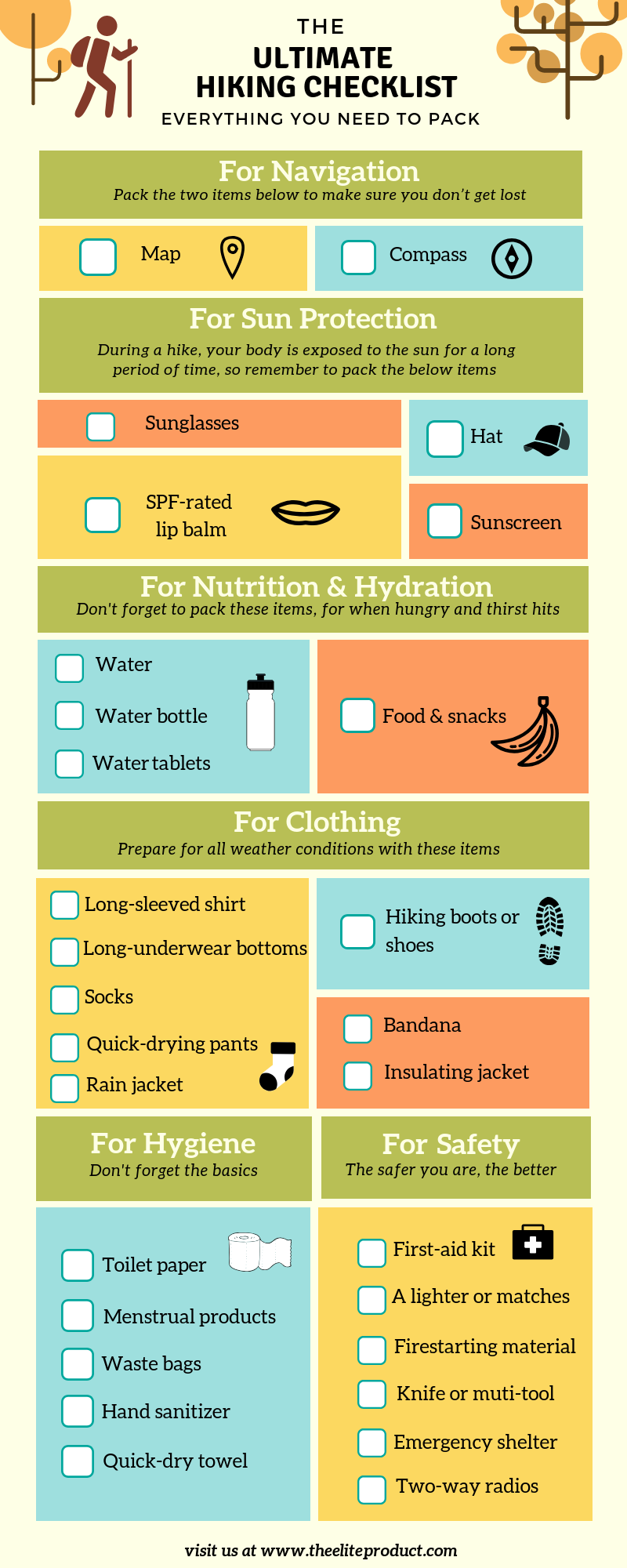 ultimate hiking checklist